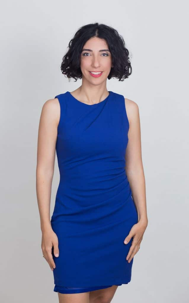 לירון פורת בשמלה כחולה